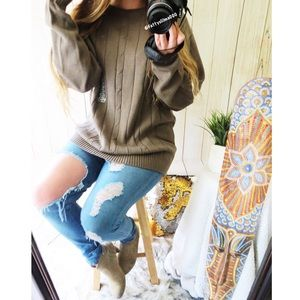 NWOT Vintage Fall festival slouchy knit sweater 🍂